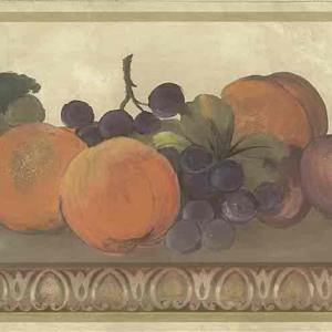Fruit Vintage Wallpaper Border Kitchen Cream 750-8113 FREE Ship