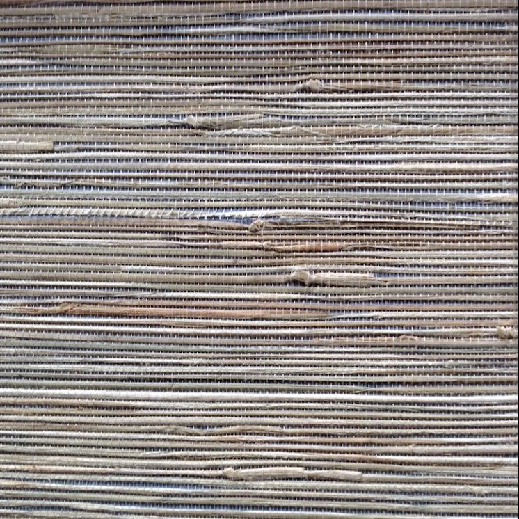 Wallpaper natural grasscloth blue beige, textured, study, foyer