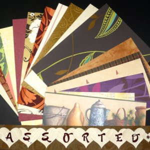 Assorted VARIETY Craft Scrapbooking Paper Wallpaper Pak 17 Sheets