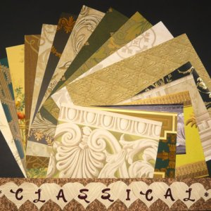 CLASSICAL Pattern Craft Scrapbooking Paper Wallpaper Pak 17 Sheet