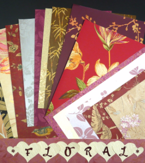 Floral Crafts Pak, wallpaper samples, floral