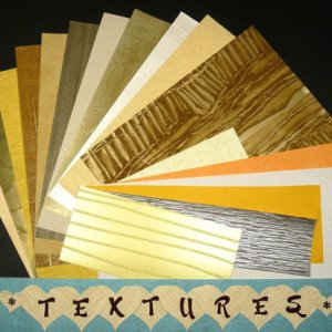 TEXTURED Pattern Craft Scrapbooking Paper Wallpaper Pak 17 Sheets