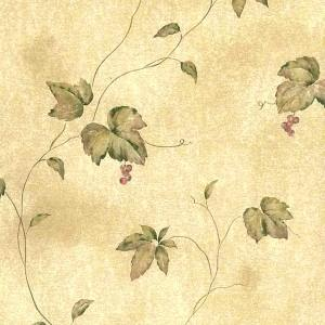 Wallpaper Leaves Berries Kitchen Beige Green VIN7361 D/Rs