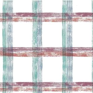 Large-scale Plaid Vintage Wallpaper Kitchen Purple Orange DS5041 D/Rs