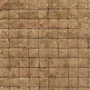 Wallpaper-Brown-Check-Tile-Squares-Faux Finish FE7033 D/Rs