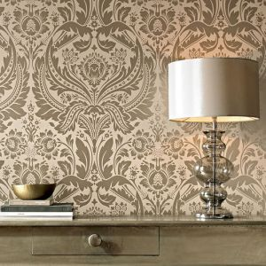 Metallic Wallpaper Silver Gold Copper Bronze Adds Shimmer Drama