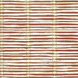 Red Striped Wallpaper Beige Gold KY741 Double Rolls