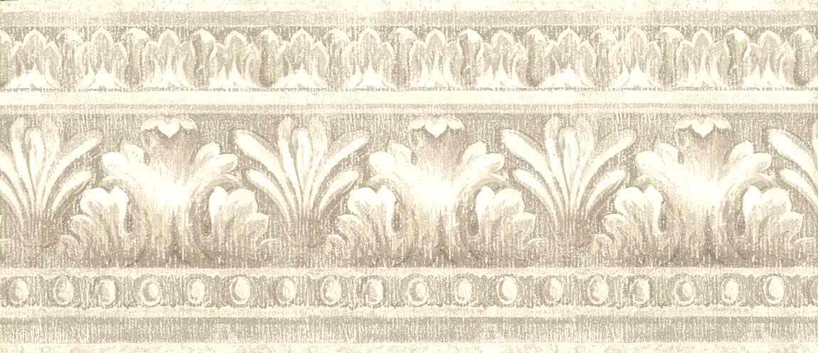 Taupe Vintage Wallpaper Border Egg, Wallpaper Borders For Dining Rooms