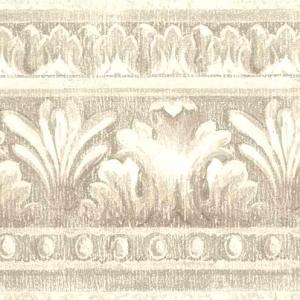 Taupe Vintage Wallpaper Border Egg Glazed 73-82118 FREE Ship