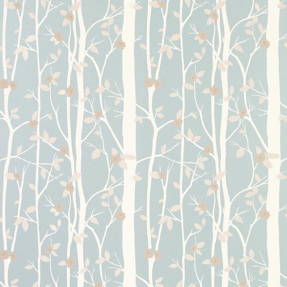 Tree Wallpaper Leaves Brown Green Blue