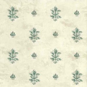 Vintage Wallpaper Fleur de Lys Green Textured 117164 Double Rolls