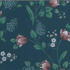 Vintage Floral Wallpaper Tulips Blue Pink Green KL3056 D/Rs