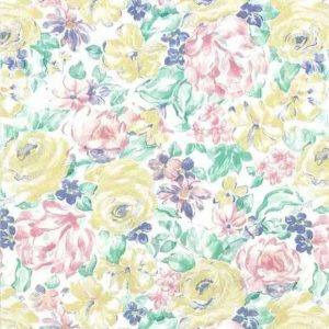 Vintage Shand Kydd Floral Wallpaper Kitchen Pink Yellow 20910 D/Rs