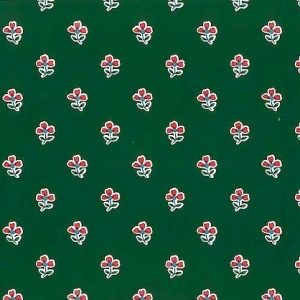 Vintage Waverly Floral Wallpaper Dark Green Red Country 565421 D/Rs