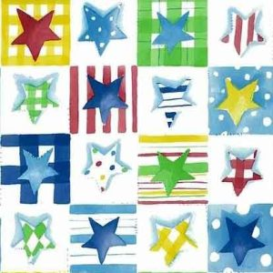 Stars Vintage Wallpaper Primary Colors Kids Children GR60009 D/Rs