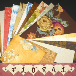 Crafts Assorted Pak Scrapbooking Paper Wallpaper Pages-17 Sheets
