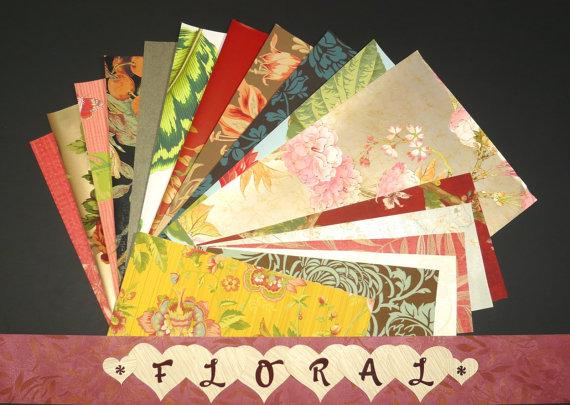 Floral Craft & Scrapbooking Paper Wallpaper Pak Example