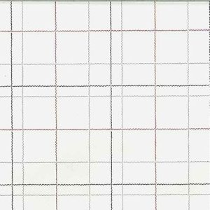 Vintage Window Pane Plaid Wallpaper Kitchen Gray Off-White Red 05063 D/Rs