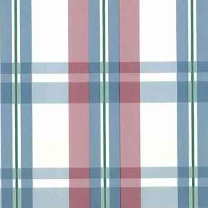 Plaid Vintage Wallpaper Pink Blue Kitchen Cottage CK11707 D/Rs