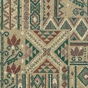 Vintage Southwestern Wallpaper Geometric Taupe Green 30609 D/Rs