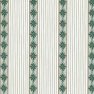 Vintage Diamond Striped Wallpaper Green White Taupe Gold KB3697 D/Rs