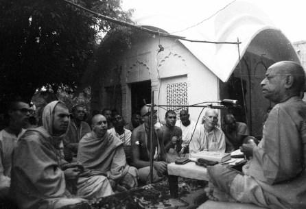 Srila Prabhupada at Radha Damodar Temple