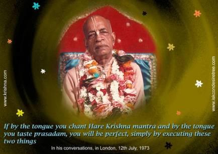 Srila Prabhupada prasadam quote