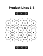 Product Lines Game Board: Level 1