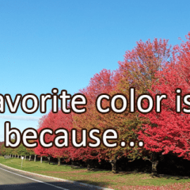 Writing Prompt for September 20: Colors
