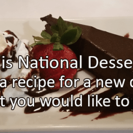 Writing Prompt for October 14: Dessert Day!