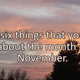 Writing Prompt for November 2: November Likes
