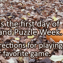 Writing Prompt for November 23: Game and Puzzle Week