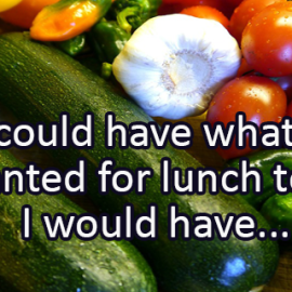 Writing Prompt for December 10: Lunch
