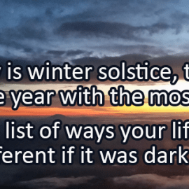 Writing Prompt for December 21: Winter Solstice