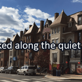Writing Prompt for November 29: Quiet Street