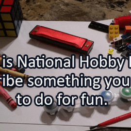 Writing Prompt for January 5: Hobbies
