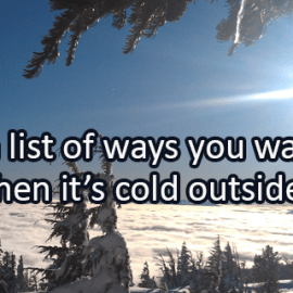 Writing Prompt for January 8: It's Cold Outside!
