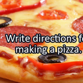 Writing Prompt for February 25: Pizza Directions