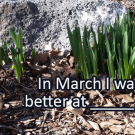 Writing Prompt for March 1: Getting Better