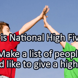 Writing Prompt for April 21: High Five