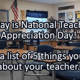 Writing Prompt for May 9: Teacher Appreciation