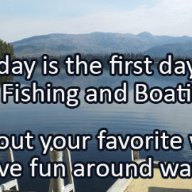 Writing Prompt for June 6: Fishing and Boating