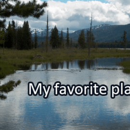 Writing Prompt for June 27: Favorite Place