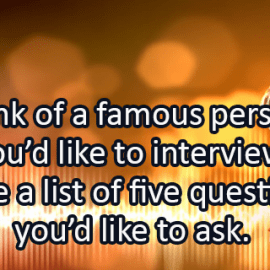 Writing Prompt for July 9: Interview