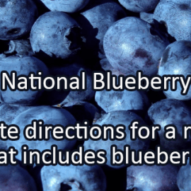 Writing Prompt for July 18: Blueberry