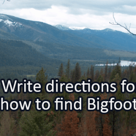 Writing Prompt for August 5: Bigfoot