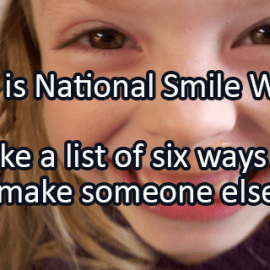 Writing Prompt for August 11: Smile Week