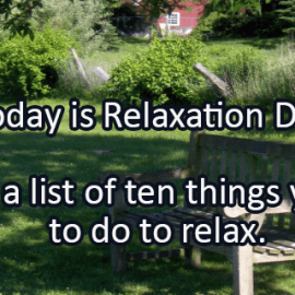 Writing Prompt for August 15: Relax