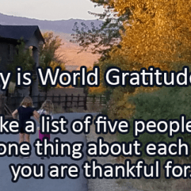 Writing Prompt for September 21: Gratitude Day