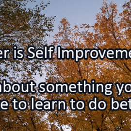 Writing Prompt for September 27: Self Improvement